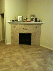 tile and fireplace redo